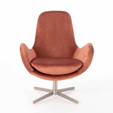 Gepolsterter Loungesessel in modernem Design aus Samt - Gajarda