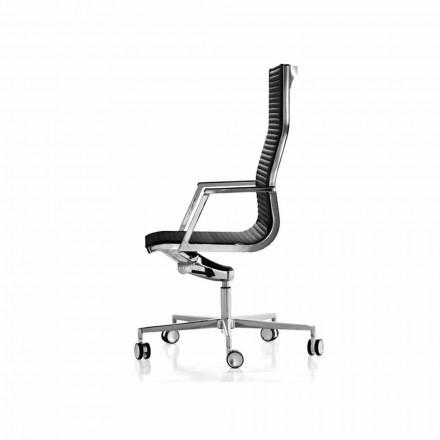Ergonomische Bürosessel aus Leder oder Stoff Nulite Luxy