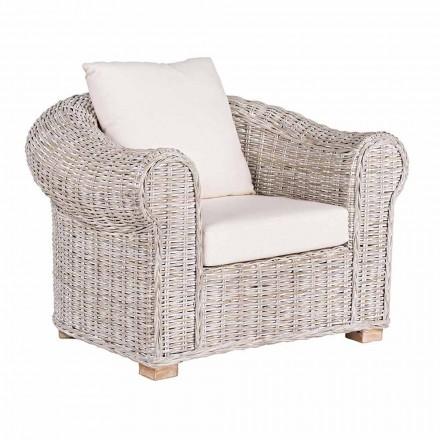 Ethnischer Sessel für Indoor oder Indoor Outdoor Rattan Homemotion - Francioso