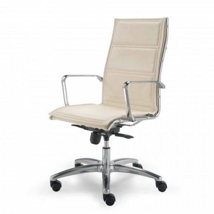 Bürostuhl aus Leder in modernem Design Agata