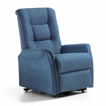 Luxus Relaxsessel aus Stoff mit 2 Motoren - Victoire