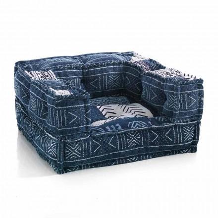 Ethnic Lounge Armchair aus Patchwork - Stoff oder Samtfaser