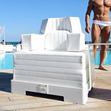 Schwimmdock Sessel Trona weißes Design Luxus, made in Italy