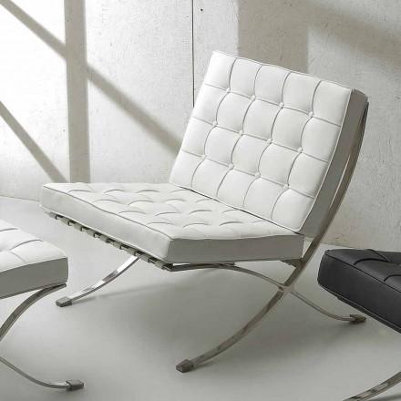 Sessel aus Kunstleder mit verchromten Gestell Morella