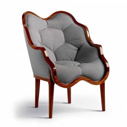Sessel aus Stoff und Massivholz, Design, made in Italy, Begga