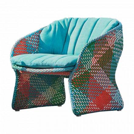 Gepolsterter Outdoor Lounge Sessel aus Kunstfaser - Maat von Varaschin