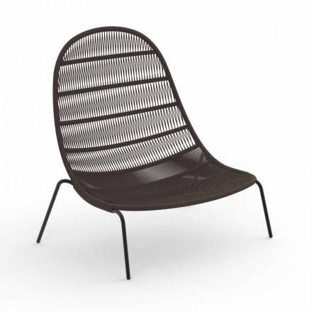 Garden Lounge Chair aus Aluminium und Stoff - Panama von Talenti