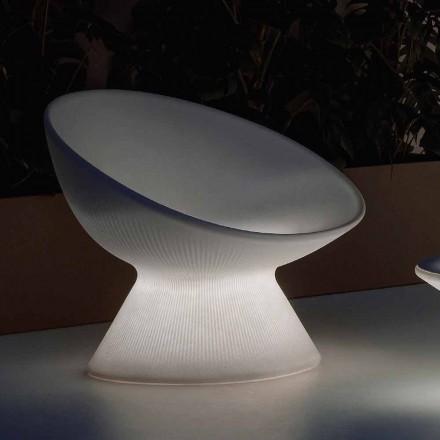 Leuchtender Outdoor-Sessel aus Polyethylen mit LED-Licht Made in Italy - Desmond
