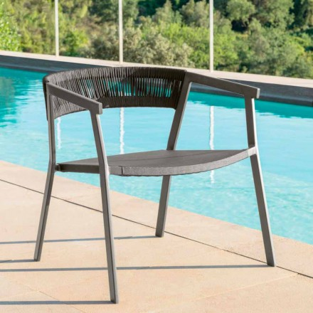 Key Talenti moderner Outdoor-Sessel, Aluminium und Textilien