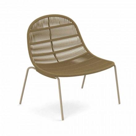 Design Outdoor Sessel aus Aluminium und Stoff - Panama von Talenti