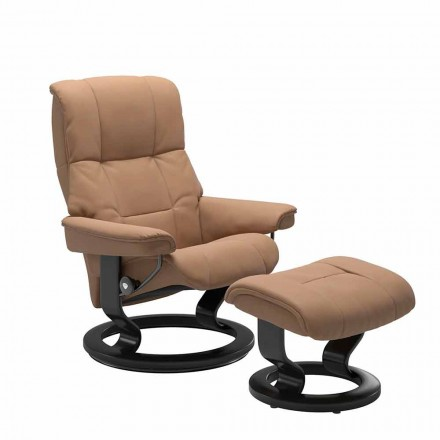 Ledersessel mit Ottomane von Stressless - Mayfair