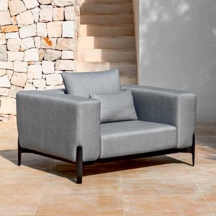 Entspannen Sie Garten Sessel Aluminium und Stoff, Design in 3 Ausführungen - Filomena