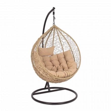 Luxus Design Stahl hängende Garten Sessel für Outdoor - Schaum