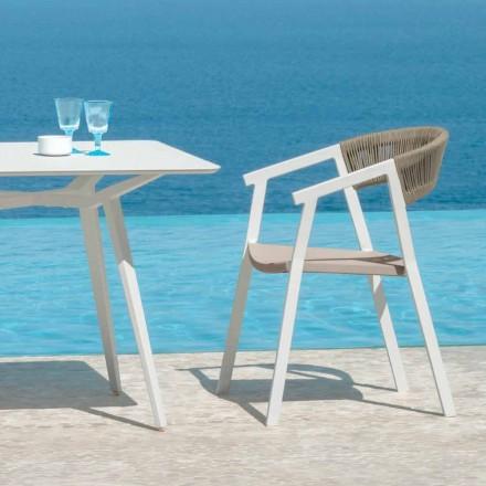Garten Esszimmer Sessel mit Key Talenti Armlehnen, stapelbar