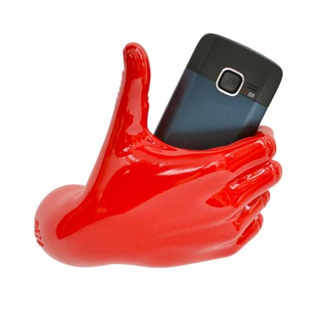 Moderner Handyhalter in handdekoriertem Harz Made in Italy - Curia