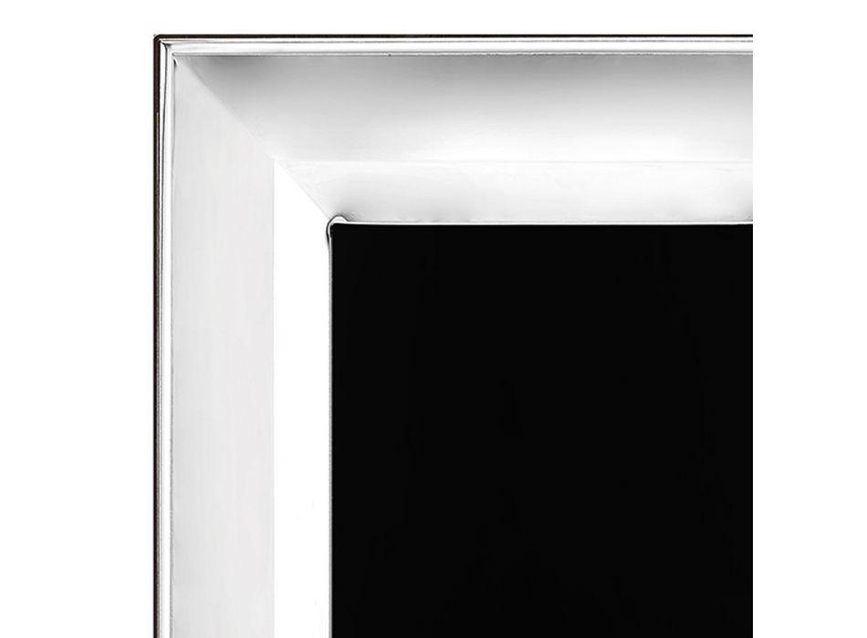 Bilderrahmen in Silber, Glas und Holz vertikales Design Made in Italy - Tancredi