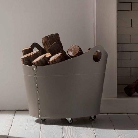 Portalegna Innenleder mit Rädern modernes Design Cadin