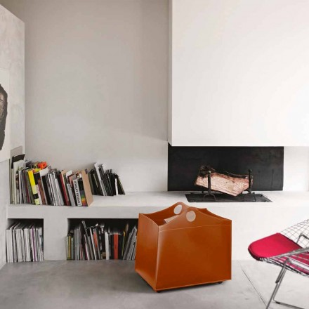 Portalegna Bonded Leder mit WoodBag Räder made in Italy