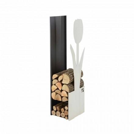 Moderner Brennholzhalter für den Innenbereich Made in Italy - Maestrale2