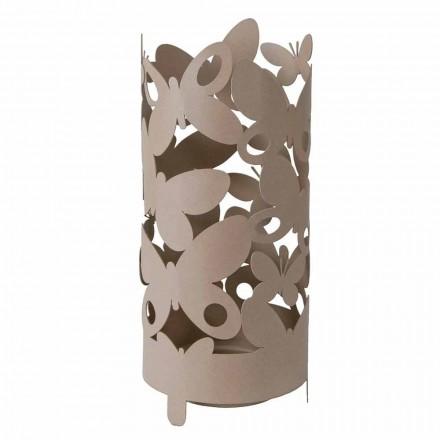 Design Schirmständer mit Schmetterlingen aus Eisen Made in Italy - Maura