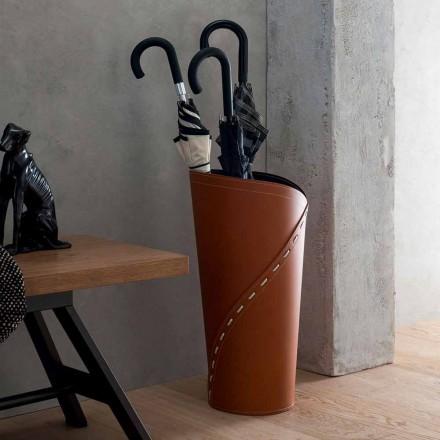 Moderner Schirmständer aus regeneriertem Katrina-Leder, hergestellt in Italien