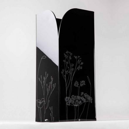 Moderner Schirmständer aus schwarzem oder transparentem Plexiglas mit Gravur - Florinto