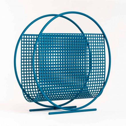 Round Design Steel Magazine Rack Made in Italy - Schöpflöffel
