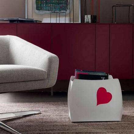 Design-Zeitschriftenständer aus Leder mit modernem Beatrice-Design