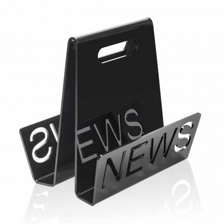 Schwarzer oder transparenter Plexiglas Design Zeitungsständer Made in Italy - Omar