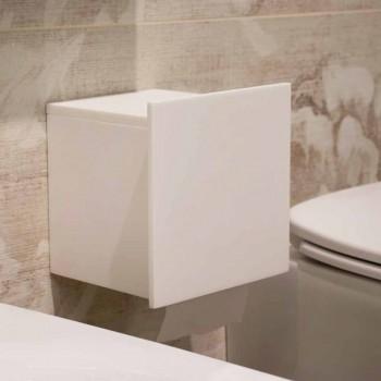 Badrollenhalter aus weißem Corian oder mit schwarzen Einsätzen Italienisches Design - Elono