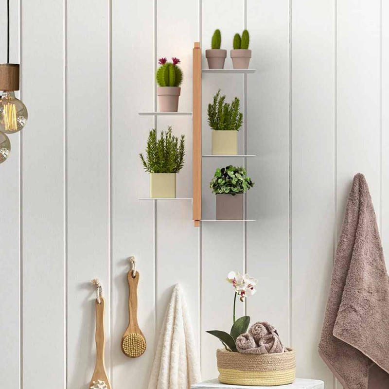 Vertikaler Blumentopfhalter Zia Flora aus italienischem Designholz
