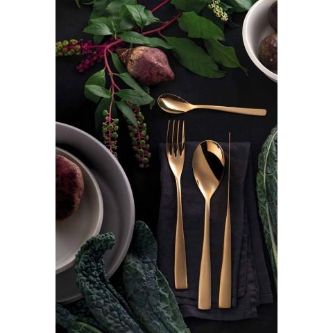 24-teiliges Luxus-Designbesteck aus sandgestrahltem oder farbigem poliertem Stahl - Timidy