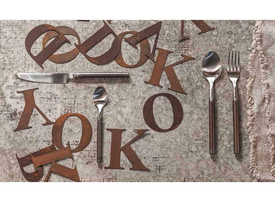 24-teiliges Besteck aus satiniertem Stahl Italienisches Kunsthandwerk - Damerino