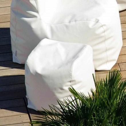 Pouf Wolke Trona Design in weiß nautischen Kunstleder in Italien