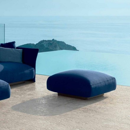 Moderner Outdoor-Pouf aus Stoff Cliff Talenti, design Palomba