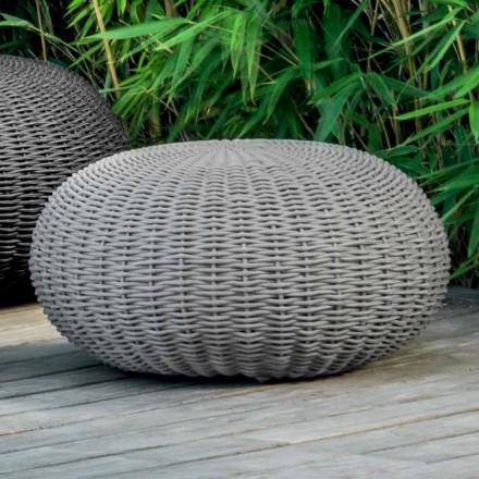 Mittlerer und runder Hocker Jackie von Talenti für einen mit Seilen bedeckten Garten