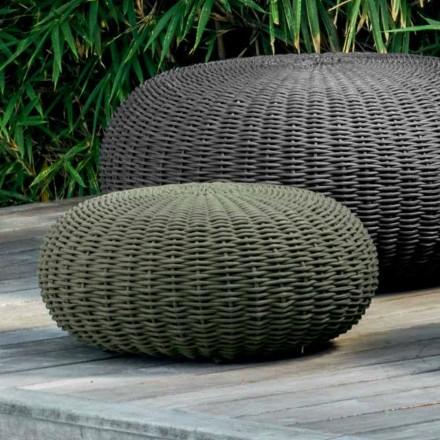 Kleiner und runder Garten-Pouf Jackie by Talenti in modernem Design