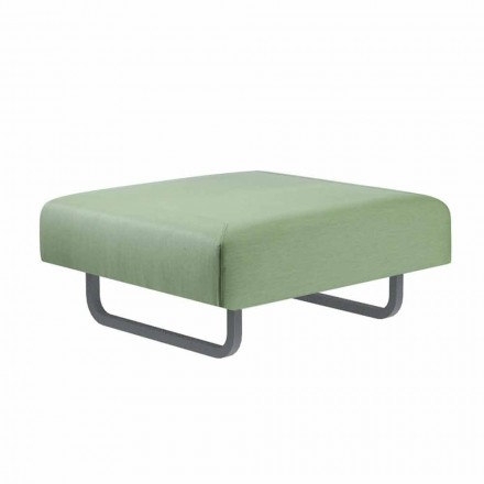 Square Outdoor Design Hocker aus Metall und Stoff Made in Italy - Selia