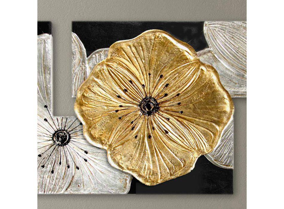 Rahmen Petunia Kleine Gold-Pintdecor