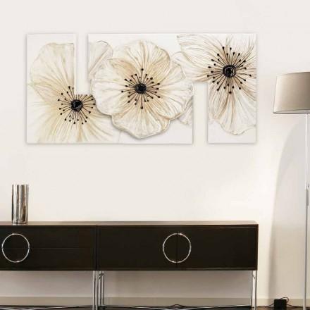 Modernes Blumenbild Petunia klein von Viadurini Decor