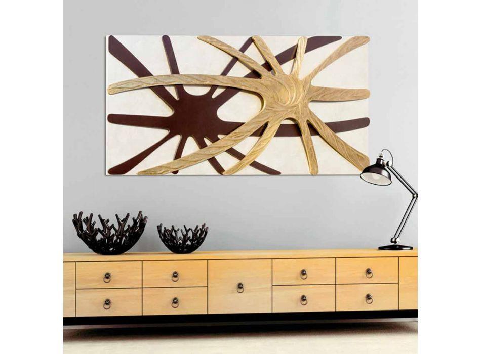 abstrakte moderne rechteckige Platte mit Chad Perle Panel