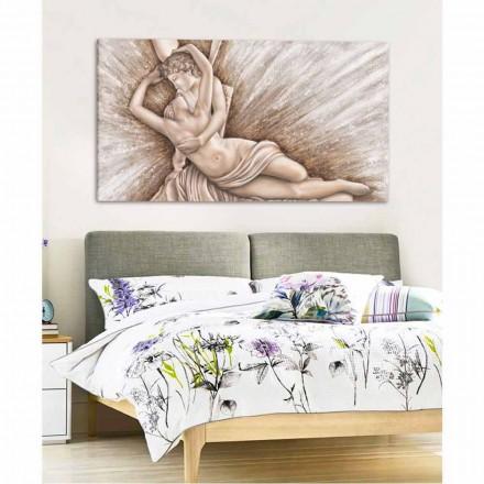 Gemälde auf Leinwand mit einem modernen Design handgefertigt in Italien Aurora
