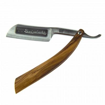 Rasiermesser mit Stahlklinge und Coramella Made in Italy - Mello