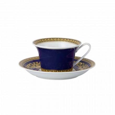 Rosenthal Versace Medusa Blue Teetasse aus modernem Porzellan-Design