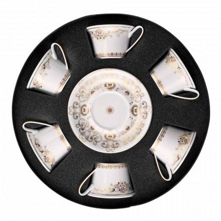 Rosenthal Versace Medusa Gala Porzellantasse 6-teilig