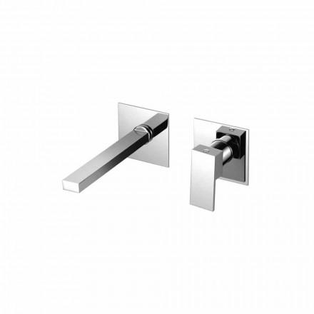 Wand-Mischbatterie für modernes Badezimmerwaschbecken Made in Italy - Panela