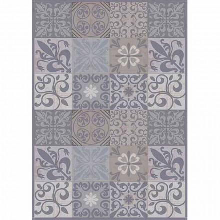 Moderner Tischläufer mit grauem oder schwarzem Muster aus PVC und Polyester - Pita
