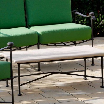 Artisan Outdoor-Wohnzimmer in Eisen-Graphit-Finish Made in Italy - Lietta