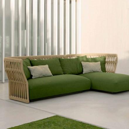 Gartenlounge Set mit Sofa und Couchtische Cliff Talenti, design Palomba