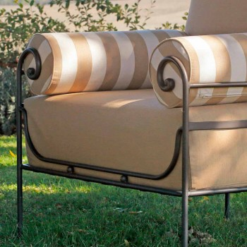 Artisan Garden Lounge mit Eisenstruktur Made in Italy - Lisotto